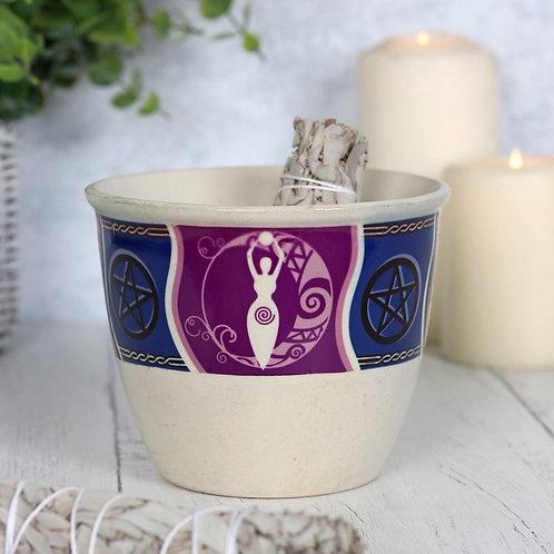 Ceramic Smudge Bowl - Goddess