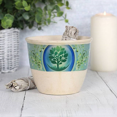 Ceramic Smudge Bowl - Tree of Life