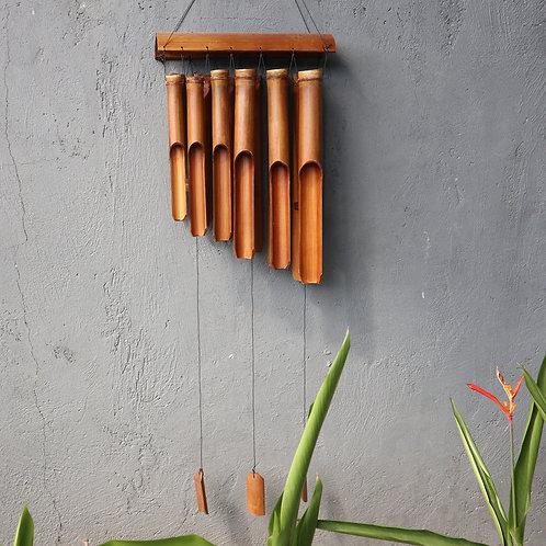 Bamboo Windchime - Natural finish - 12 Large Tubes