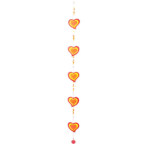 Red/Yellow String Of Hearts