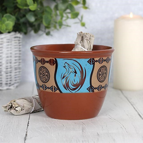 Ceramic Smudge Bowl -Dream Catcher