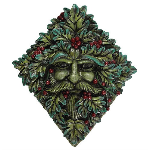 Festive Green Man Wall Plaque 22.5x20cm