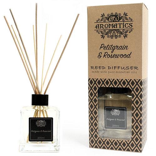 Petitgrain & Rosewood Essential Oil Reed Diffuser 200ml