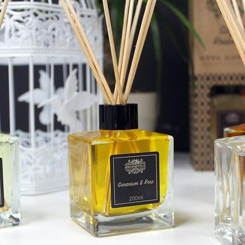Geranium & Rose Essential Oil Reed Diffuser 200ml