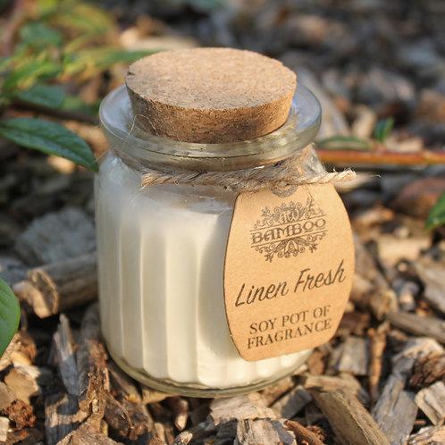 Linen Fresh Fragrance Mini Soy Candle