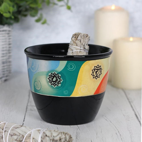 Ceramic Smudge Bowl - Chakra Design