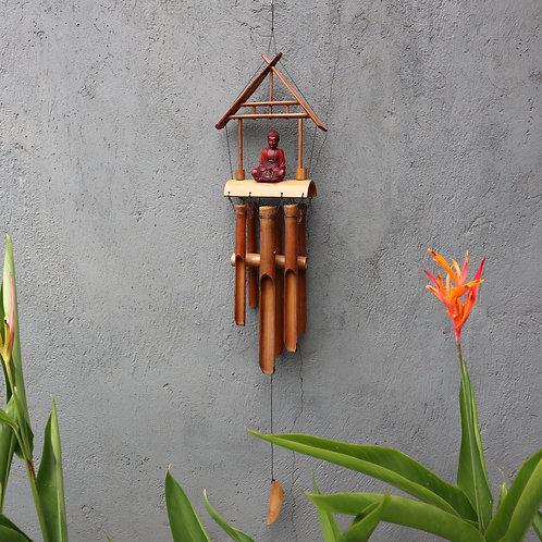 Bamboo Windchime - Natural finish Buddha 6 Tubes