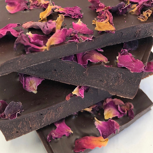Rose 70% Dark Chocolate bar