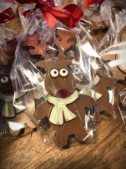 Rudolf Shape Chocolate Bar