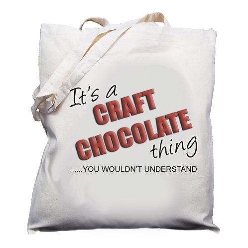 Craft Chocolate Design Cotton Shoulder Bag