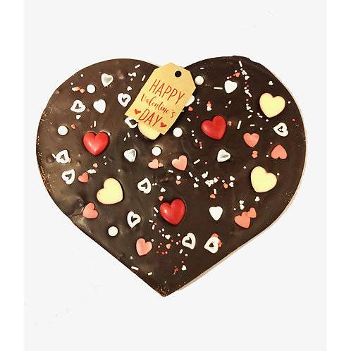Large Valentine Solid Chocolate Heart Design 2