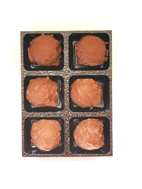 6 x  Milk Chocolate Salted Caramel Truffles