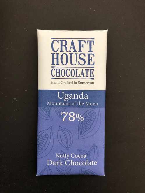"Uganda ""Mountains of the Moon 78% Dark Chocolate"