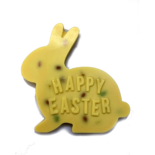 Easter Bunny Plaque with Milk Chocolate Eggs
