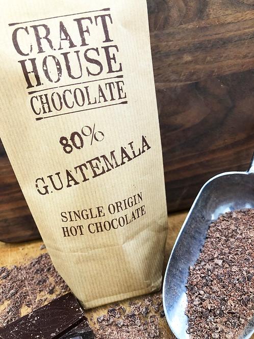 80% Guatemala Dark Ground Hot Chocolate.