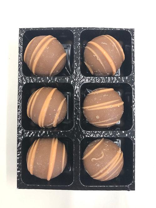 Milk chocolate apricot truffles