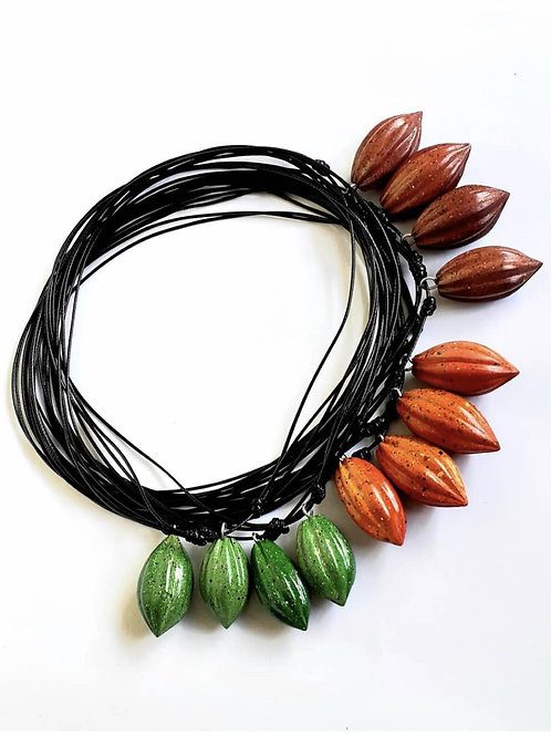 1 x Cacao Pod Necklace