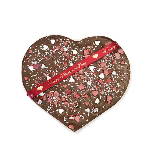 Large Valentine Solid Chocolate Heart