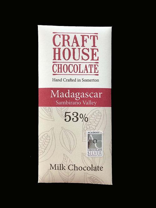 Madagascan Milk Chocolate Bar 53%