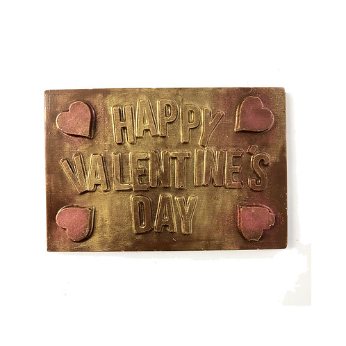 Happy Valentines Day Heart Chocolate Bar