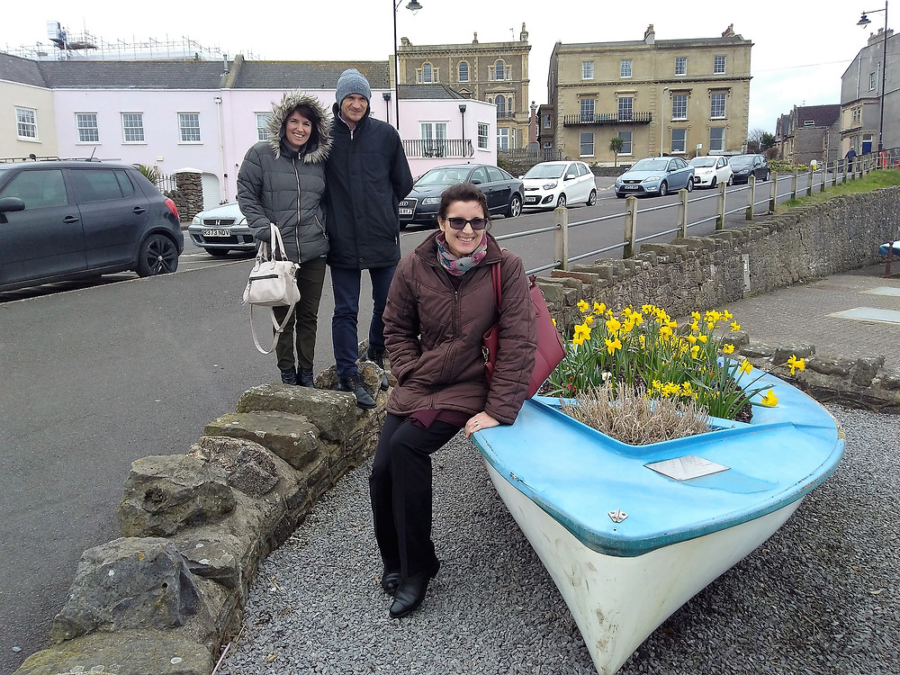 Gabi and Iosif and Mihaela in Clevedon