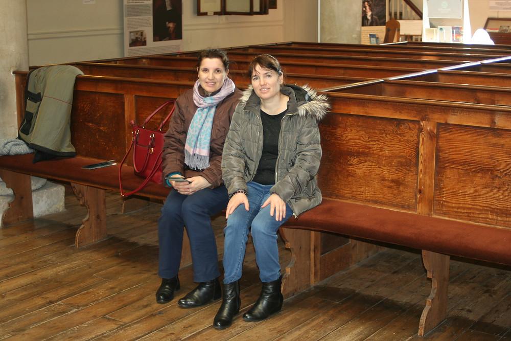 two members of John Wesley's congregation!