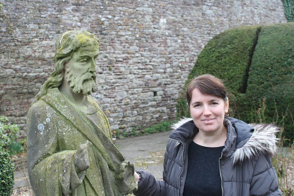 Mihaela with the apostle James, Thornbury Castle!