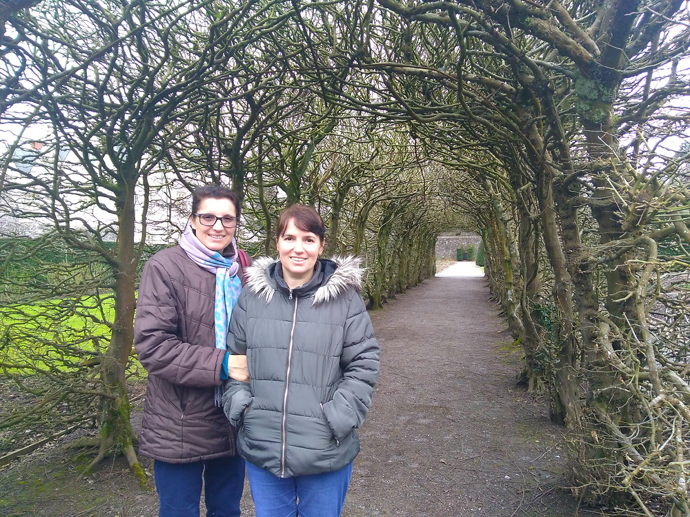 Gabi and Mihaela in the grounds of St Fagans Museum
