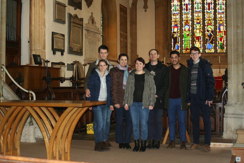 inside Thornbury church
