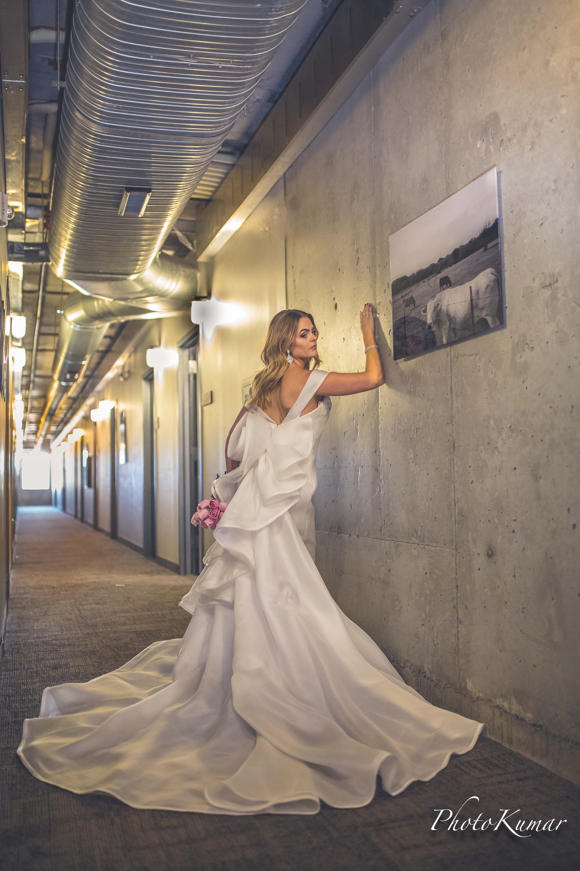 The Bridal dress details