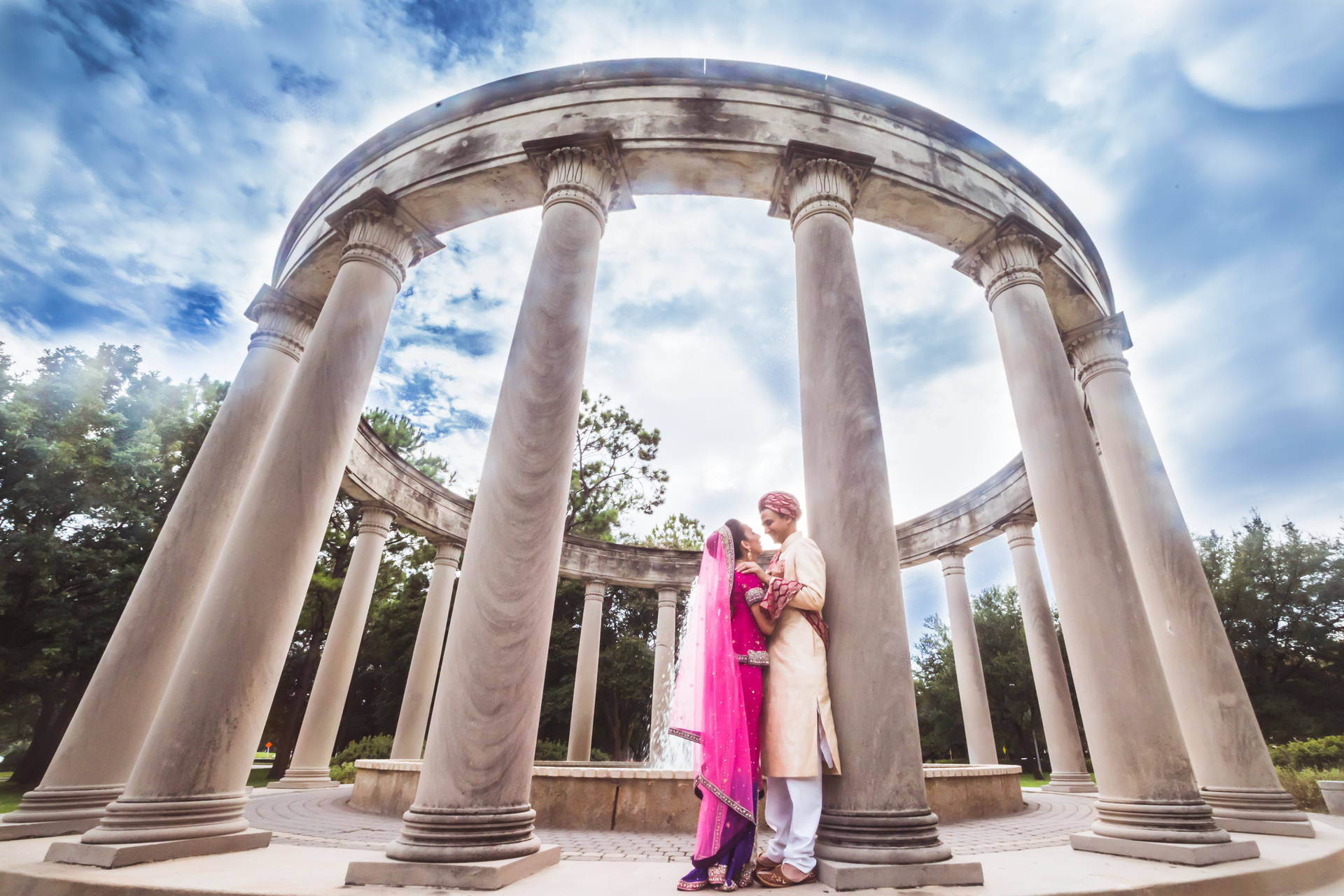 WeddingWire- The Epic Wedding Photo of the Islamic bride and groom.