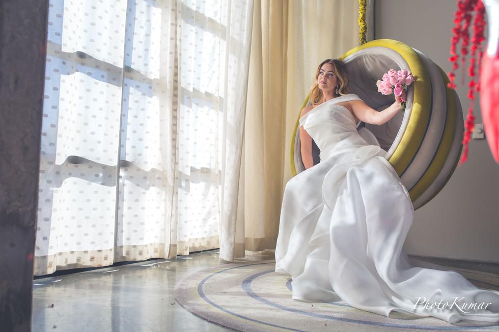 Editorial style bridal portraits