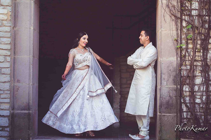Beautiful Indian Bride and Groom photographed by the best Indian wedding photographer in Dallas Texas.
