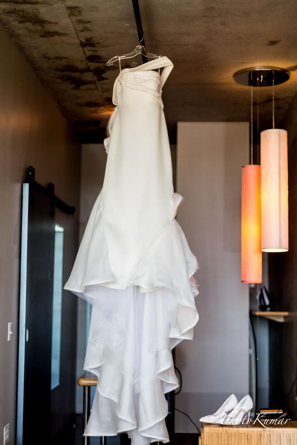Bridal dress details photography