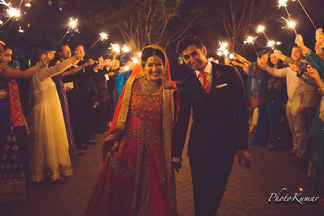 Beautiful Indian Bride and Groom Portrai