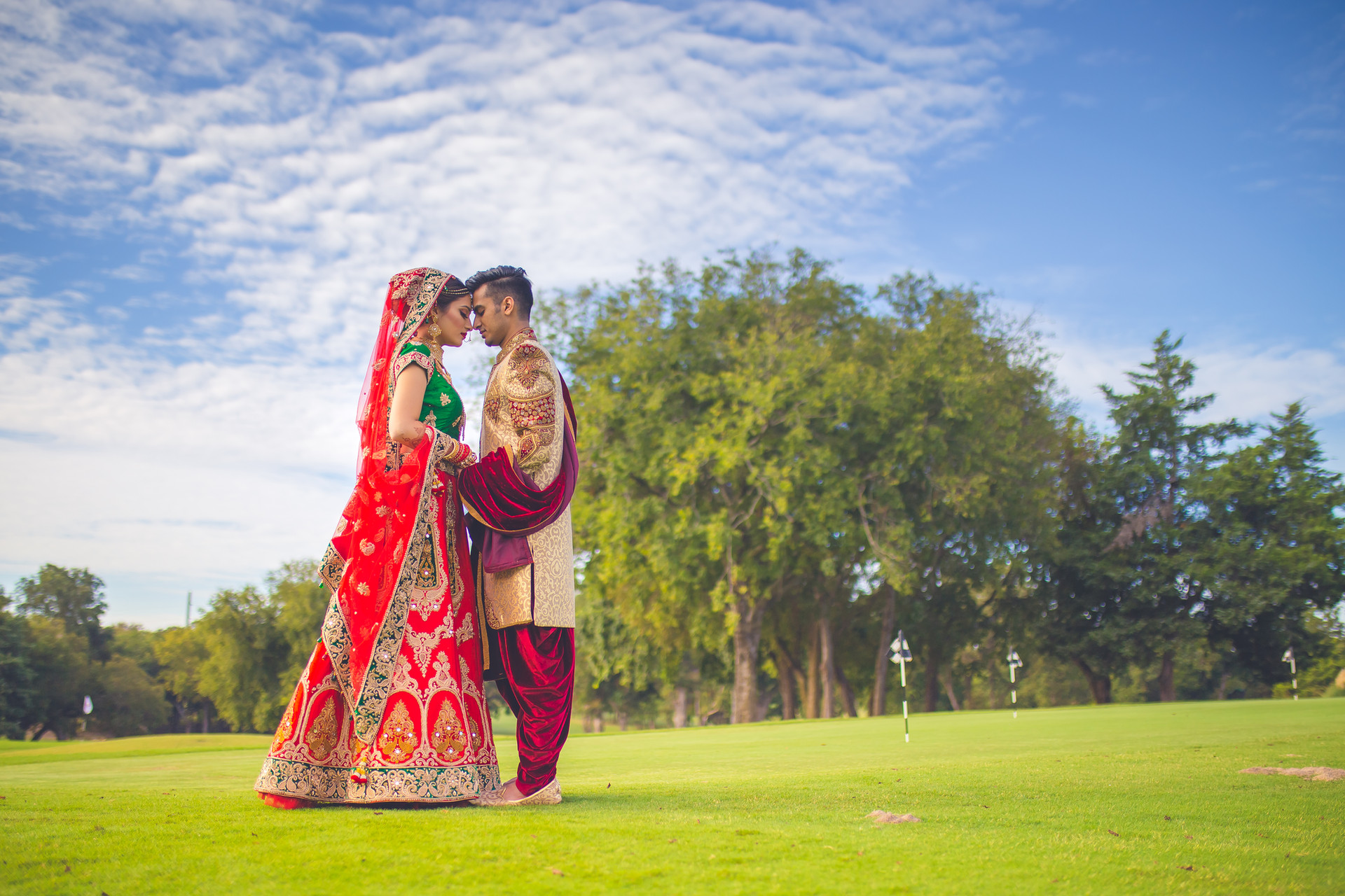 Indain wedding- Bride and Groom. Dallas, Texas.