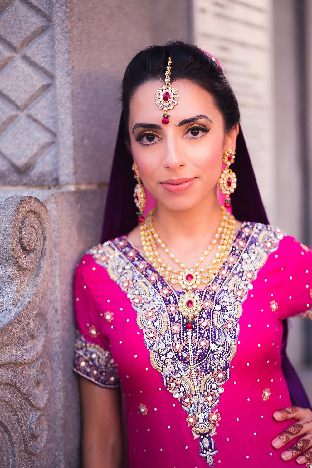 Desi bride makeup