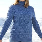 женский теплый шерстяной мягкий свитер  с высоким горлом купить в Красноярске