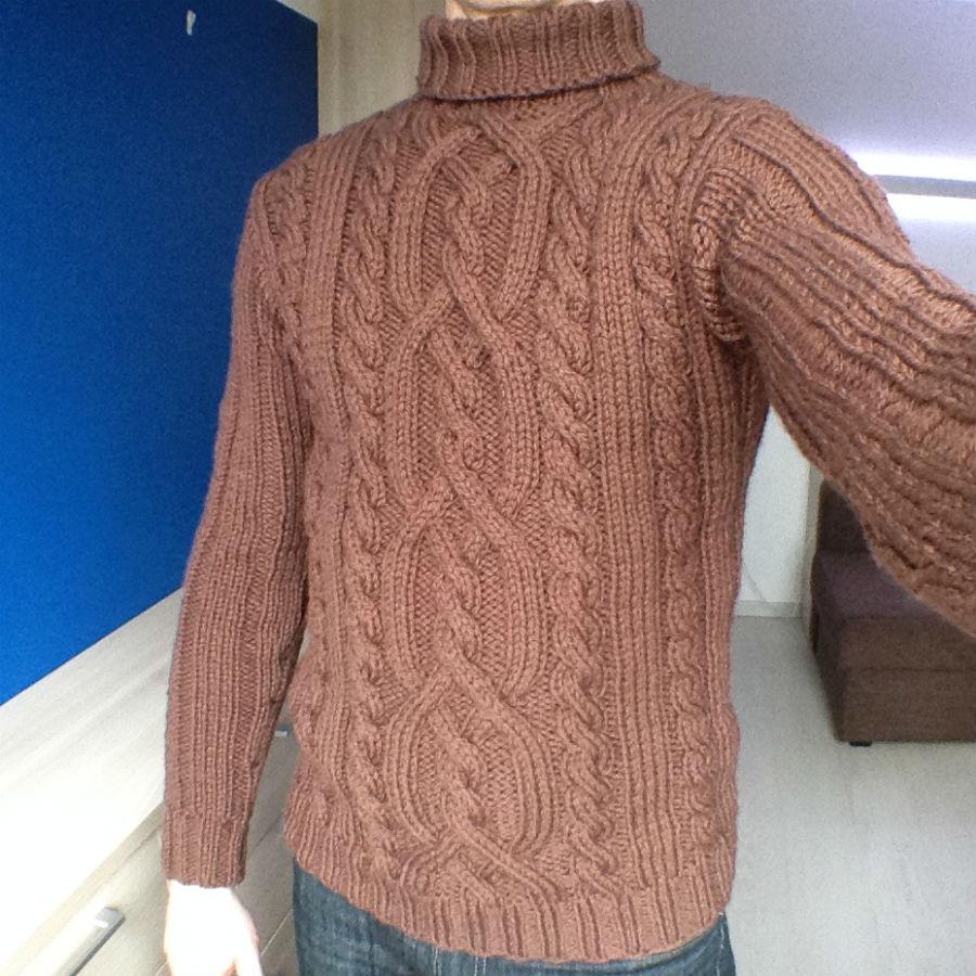 свитер АРАН из пряжи пышка камтекс
