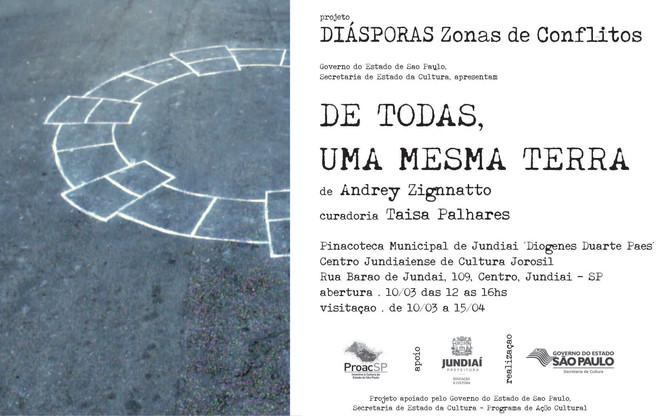 exposição DE TODAS, UMA MESMA TERRA do projeto Diásporas - Zonas de Conflitos