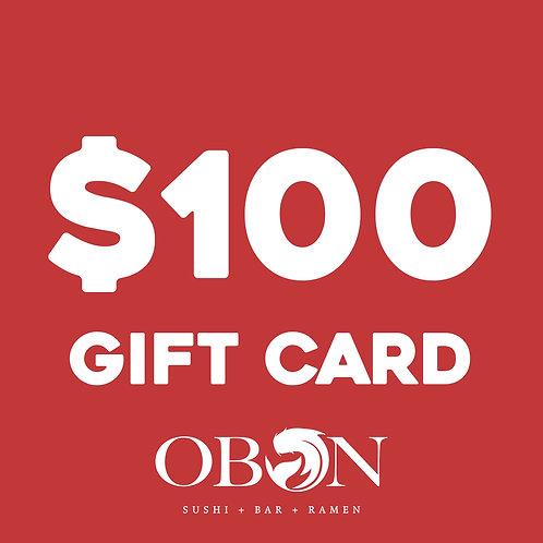 $100 Obon Gift Card
