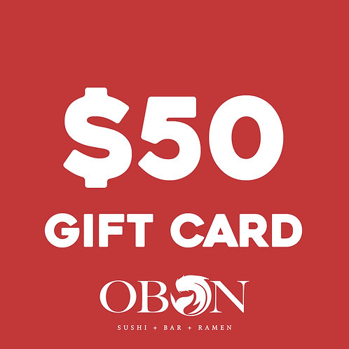 $50 Obon Gift Card