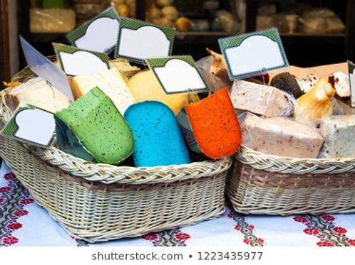 GROSE KORB MIT KÄSE - 1200 gr - 6 Verschiedene Käse Sorten
