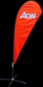 Printed 3m Teardrop Flag Banner