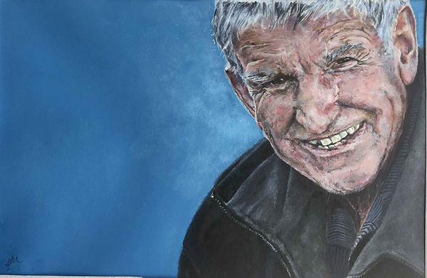 Bens Grandad Acrylic Painting