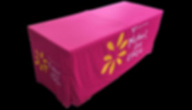A 6ft Fitted Printed Table Cloth for  well known Aussie charity