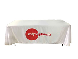 printed draped table cloth