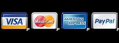We accept VISA, Mastercard, AMEX, Paypal