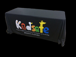 Custom Printed Tablecloths for Tradeshows