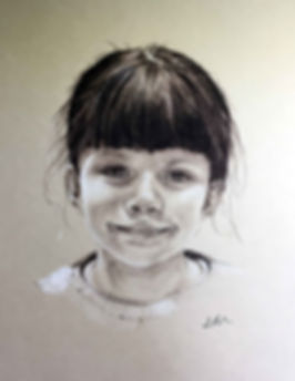 Charcoal drawing of Lexy